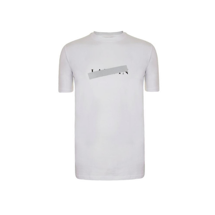 White Lanvin Box Logo T-Shirt
