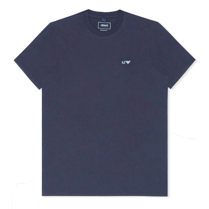 Navy Basic Logo Crew Neck T-Shirt