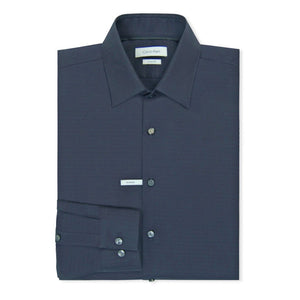 Navy Padua Fitted Pattern Shirt