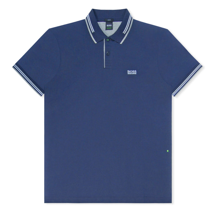 Navy/White Stripe Contrast Cotton Polo