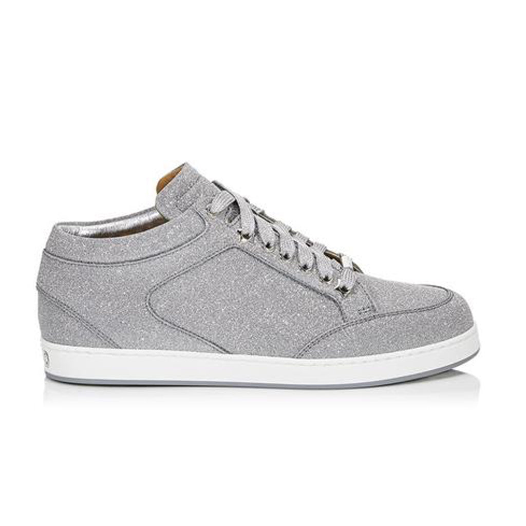 WMN silver Jimmy Choo Miami Sparkle Trainers