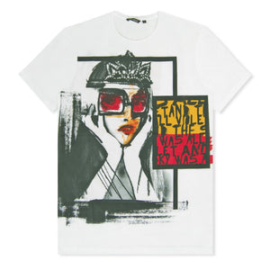White Prom Queen Print T-Shirt