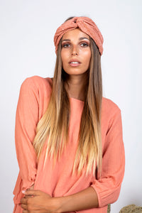 Terracotta Sundress Turban