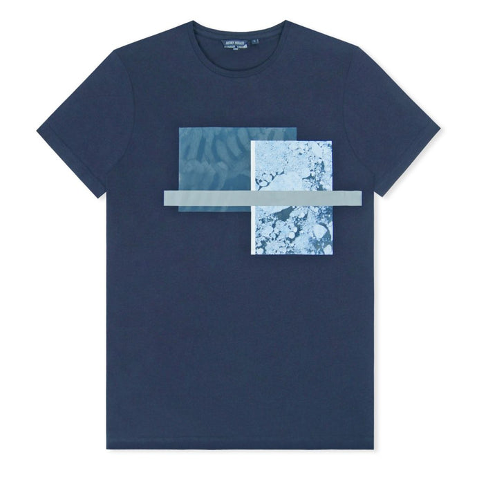 Loud Blue Shattered Diamonds Print T-Shirt