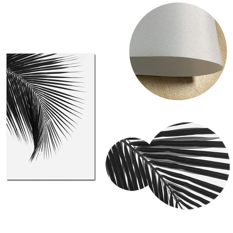 Black and White Palm Leaf Canvas Posters