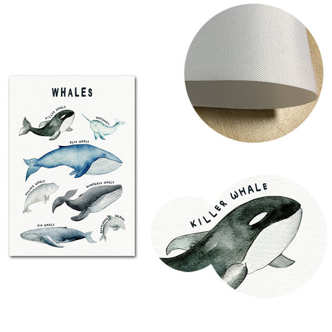 Dinosaurs Whales and Sharks Canvas Wall Art