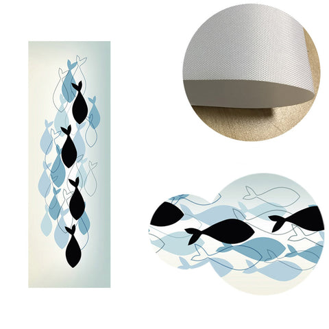 Fish Minimalist Canvas Wall Art