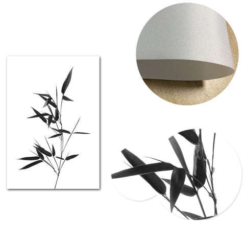 Line Drawing Black and White Canvas Wall Art