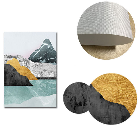 Modern Abstract Mountains Canvas Posters
