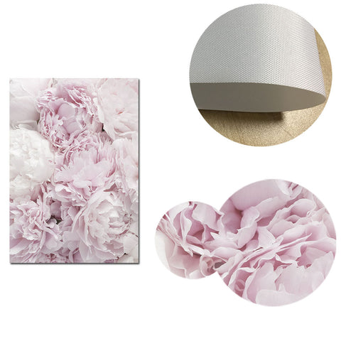 Peony Flowers Canvas Poster