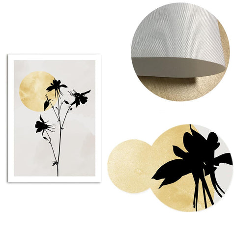 Plants Silhouette Canvas Wall Art