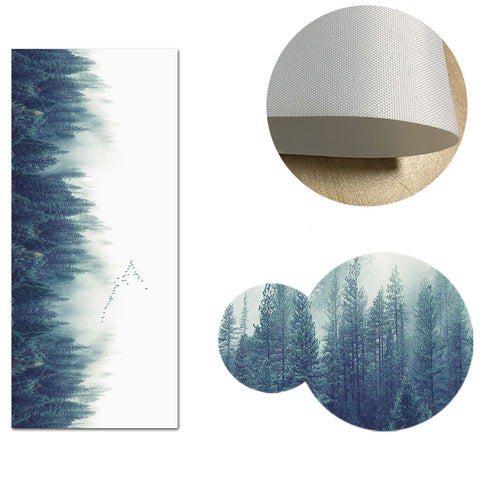 Scandinavian Foggy Forest Landscape Canvas Poster