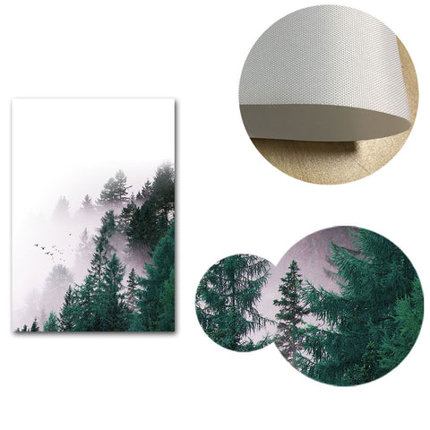 Scandinavian Style Forest Canvas Posters