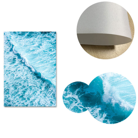 Sea Waves Scandinavian Style Canvas Posters