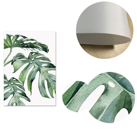 Watercolor Green Leaves Canvas Posters