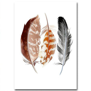 Watercolor Feathers