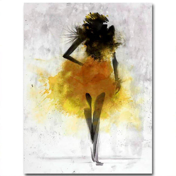 Fashion Girl Abstract Canvas Posters