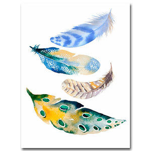 Watercolor Feathers Modern