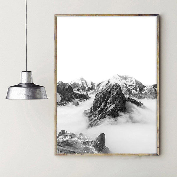 Horse and Mountain Scandinavian Style Canvas Posters