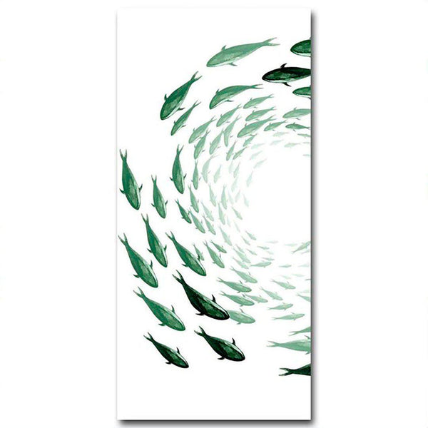 School of Fish Canvas Posters