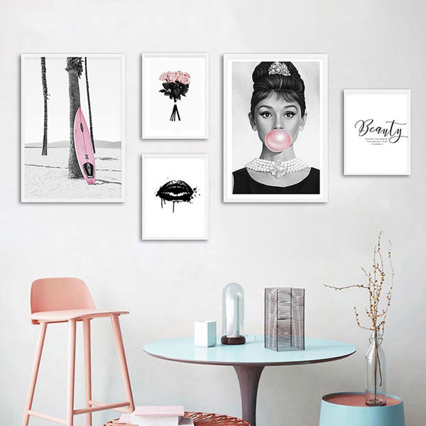 Audrey Bubble Fashion Canvas Wall Art
