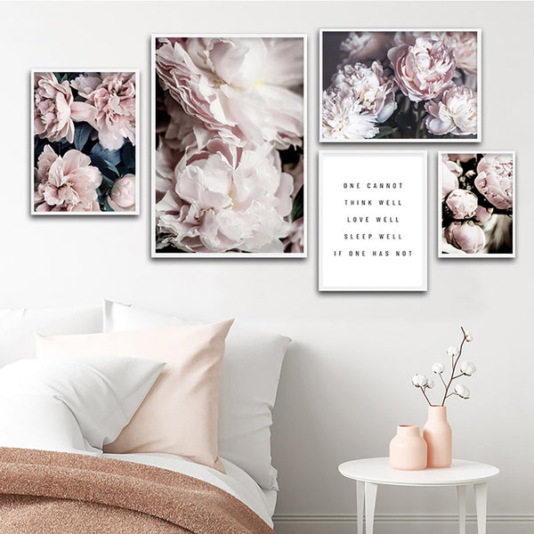 Bloom Peony Flowers Canvas Wall Art