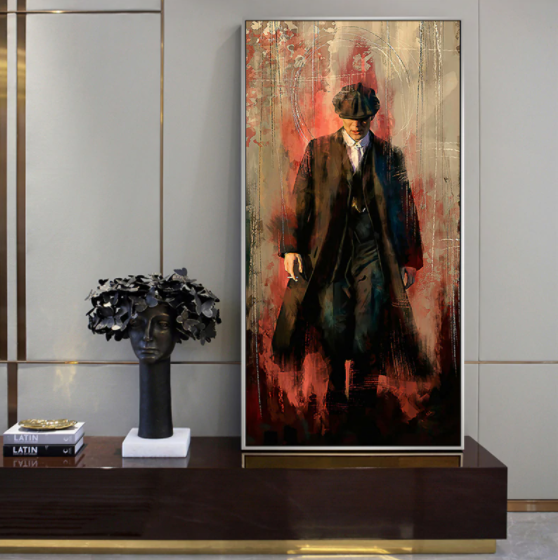 Peaky Blinders Oil Painting on Poster