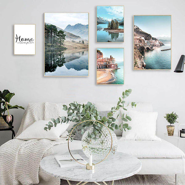 Coastal Landscape Canvas Posters