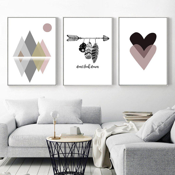 Geometry Arrow Canvas Wall Art