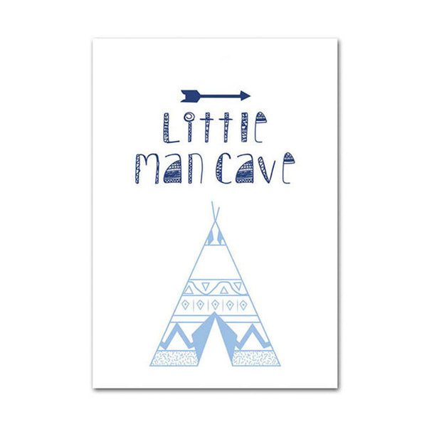 Little Man Cave Canvas Wall Art