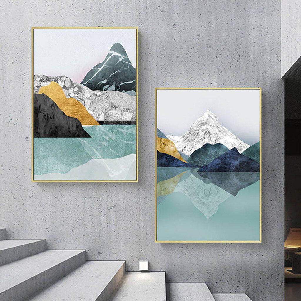 Modern Abstract Mountains