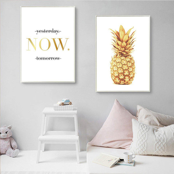 Pineapple Motivational Quotes Canvas Posters