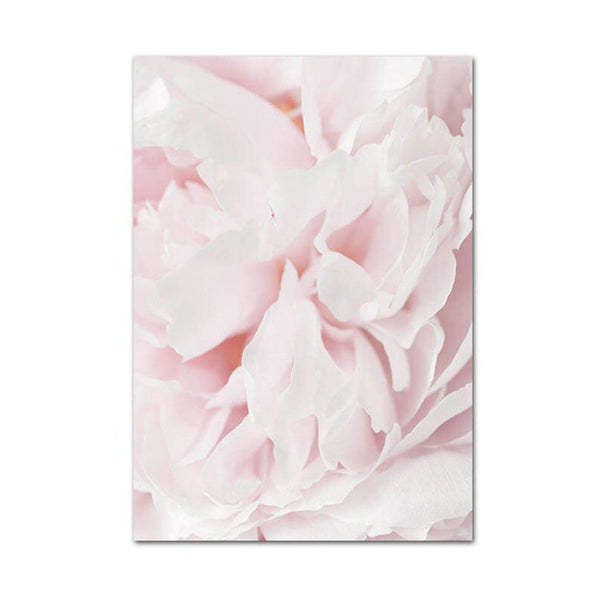 Pink Pineapple and Flowers Canvas Posters