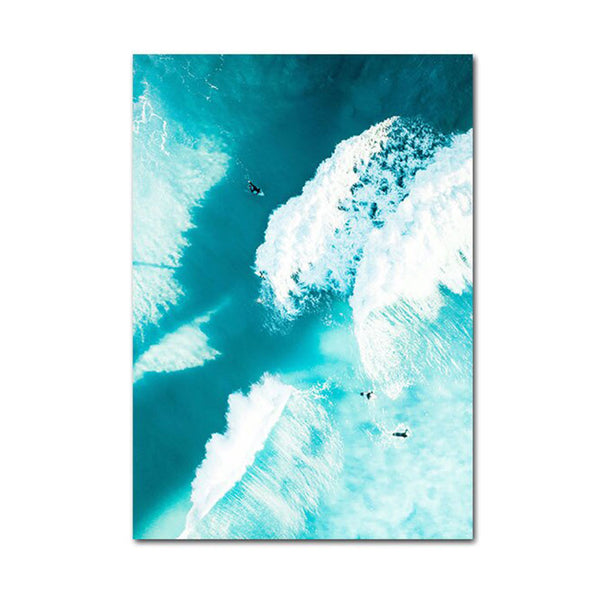 Surfing Sea Beach Landscape Canvas Posters