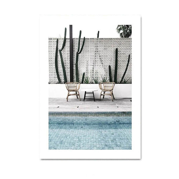 Tropical Summer Decoration Canvas Wall Art