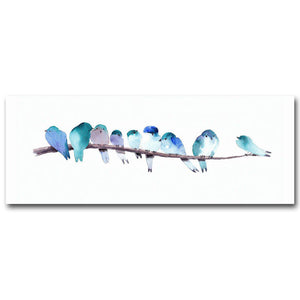 Watercolor Blue Birds