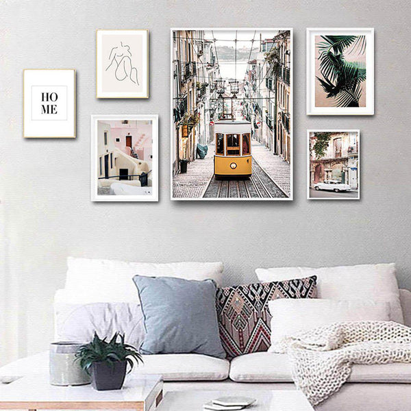 Yellow Tram Vintage Canvas Posters