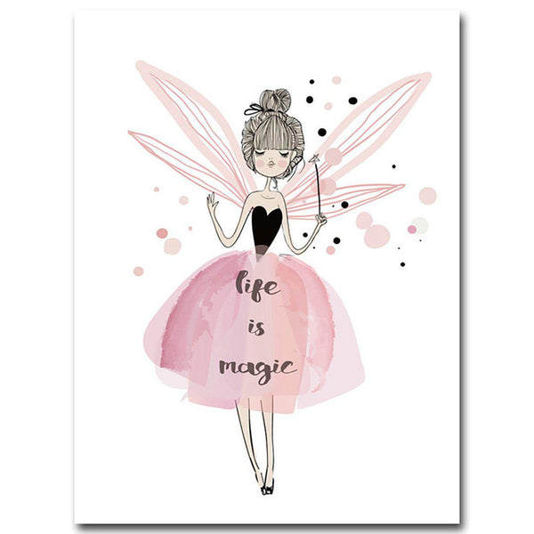 Watercolor Fairy Canvas Poster