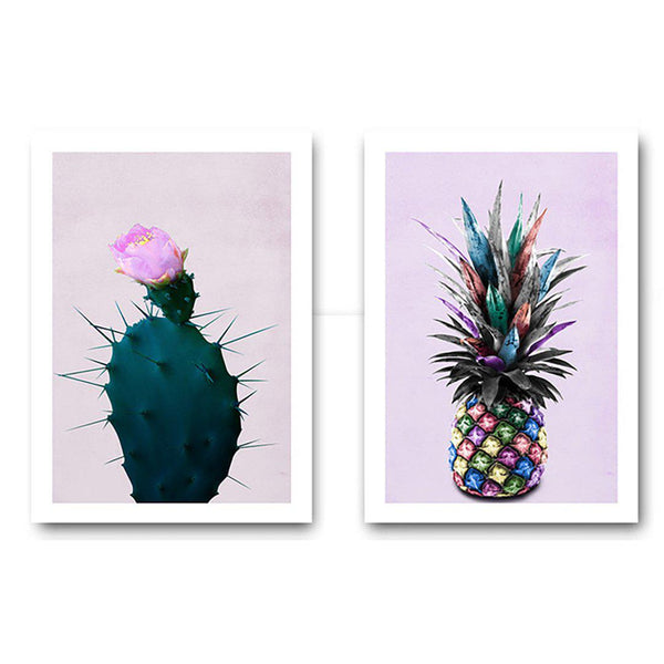 Colorful Cactus Canvas Poster