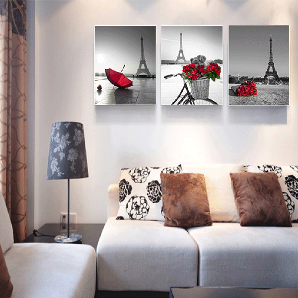 Paris Red Rose Canvas Posters