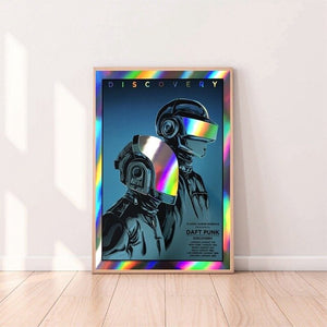 Daft Punk Music posters Canvas Poster Home Wall Decor (No Frame)