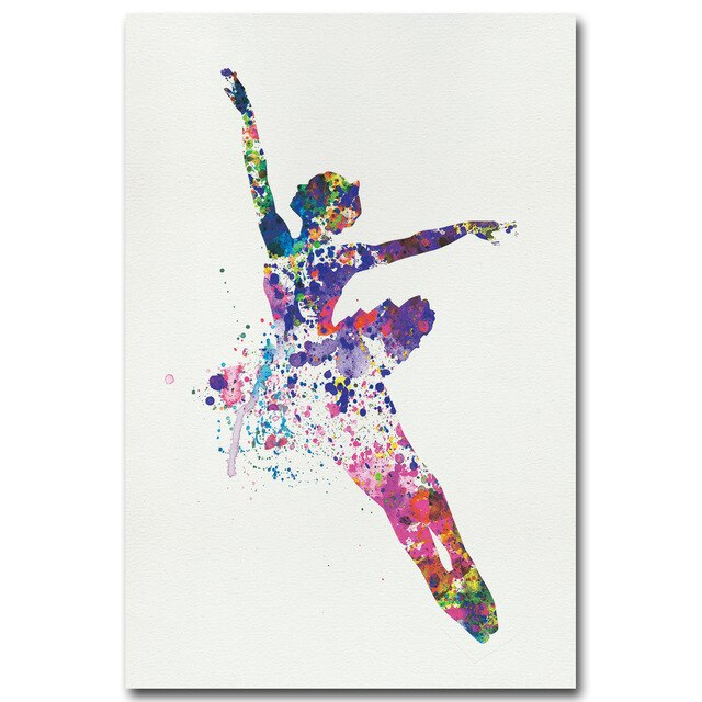 Watercolor Ballerina