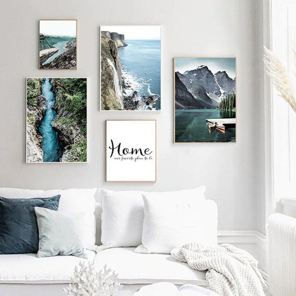 Mountain Lake Canvas Posters