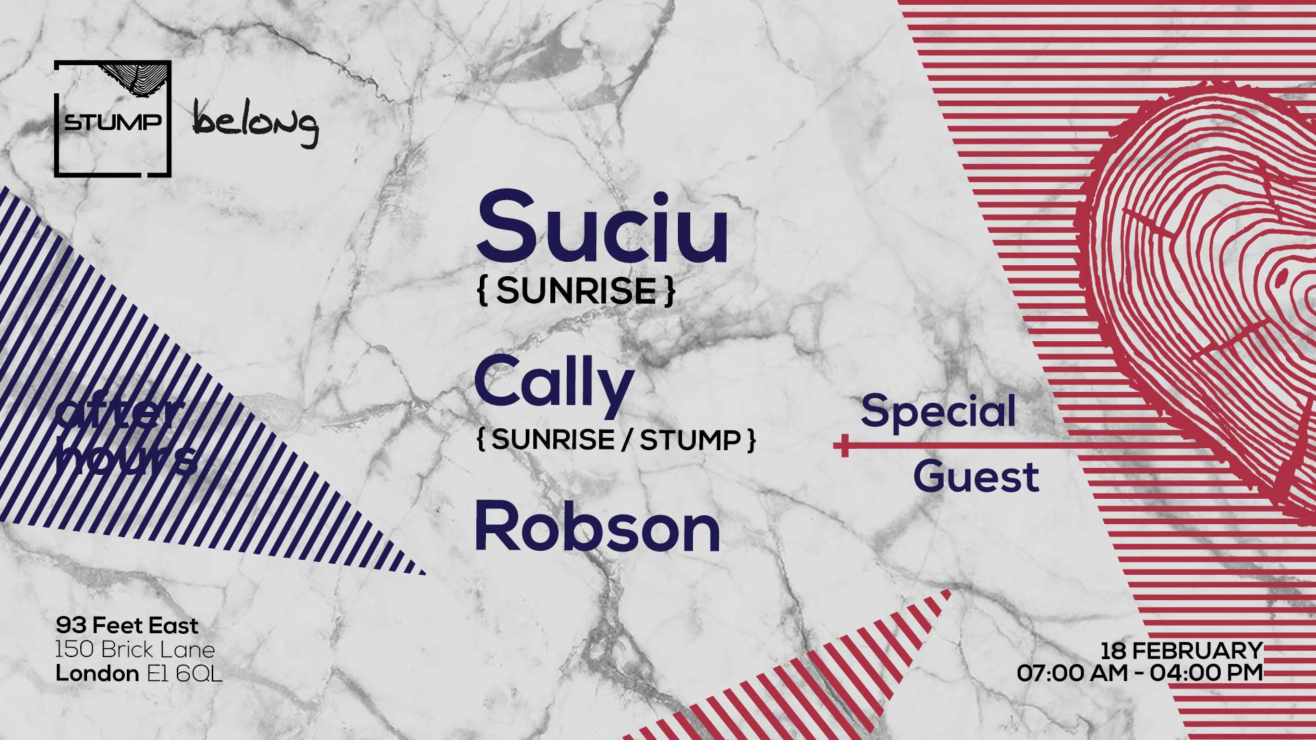 Tickets For 18-02-2018 Stump x Belong AM with Suciu,Cally,Robson,Special Guest