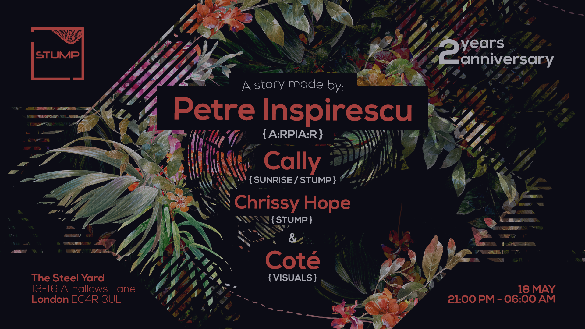 Tickets for 18-05-2018 Stump with Petre Inspirescu,Cally,Chrissy Hope,Cote