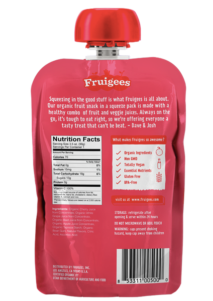 Fruigees 3-pouch Sampler <br>(FREE - you just pay shipping!)