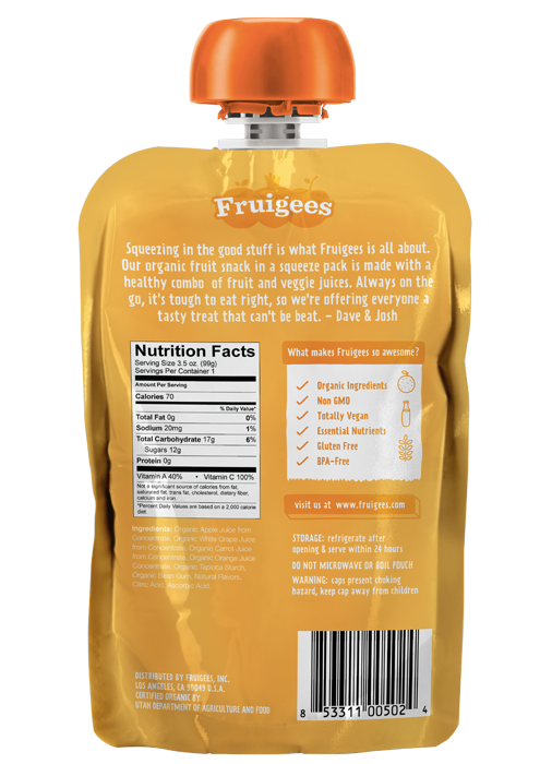 Fruigees 24 Carrot Orange <br> (12 Count)