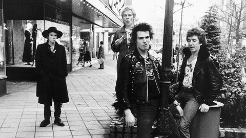 TheSex Pistols in the 1960s, showing off their cool punk clothing