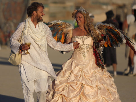 Festival Fashion, Burning Man, Wings