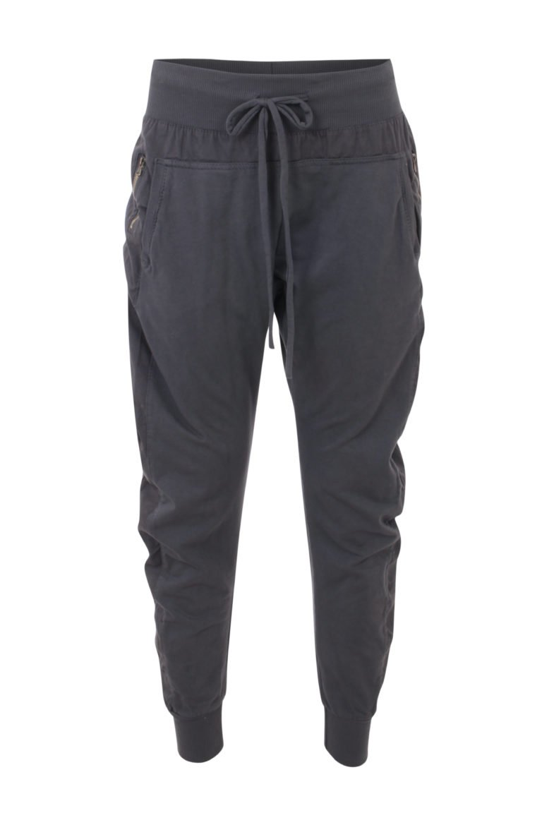 Zipped Joggers in Charcoal